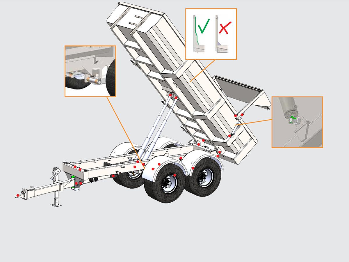 Palmse Trailer dumpervagn skiss översikt
