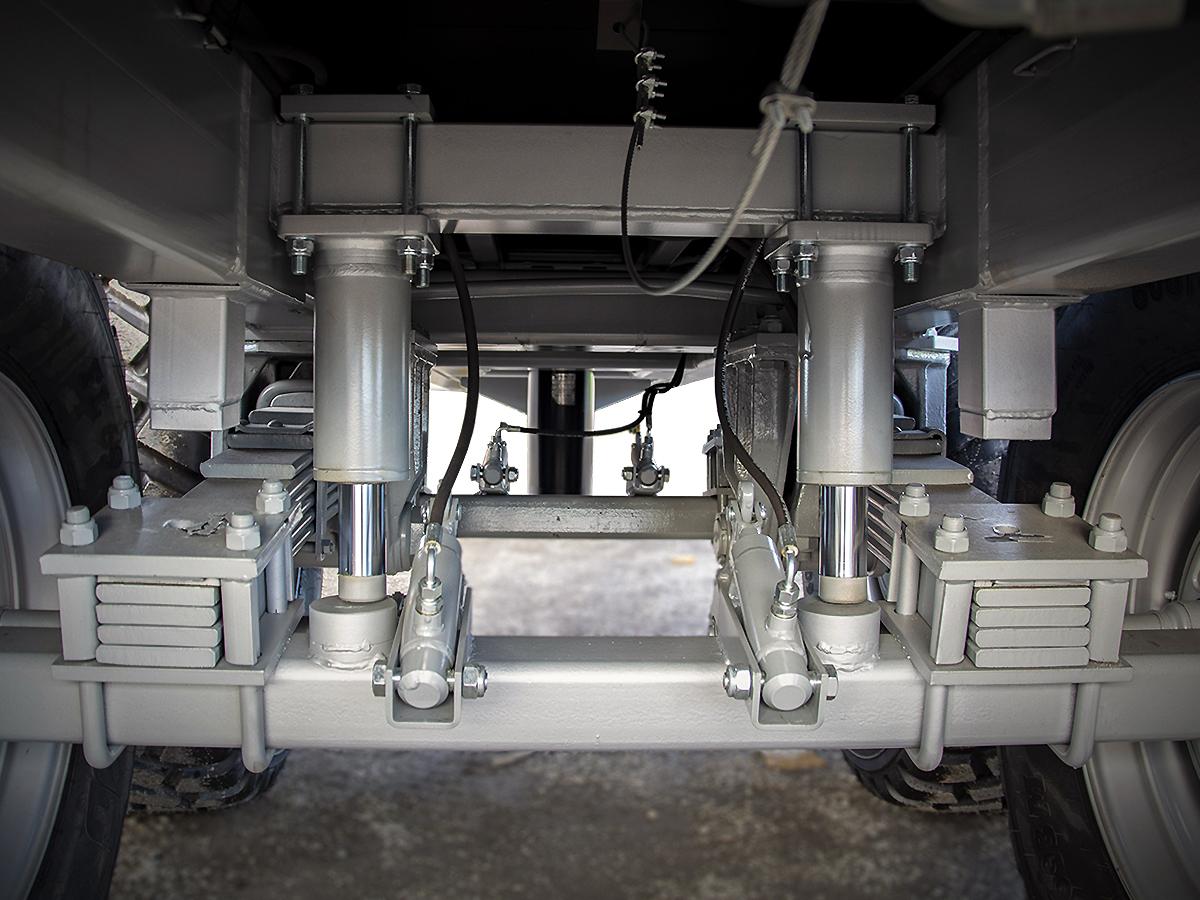 Palmse Trailer volymvagn D1725 boggiblockering